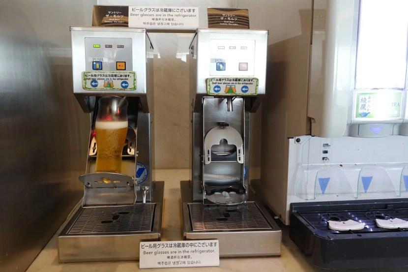 """The """"beer machine"""" at NRT."""
