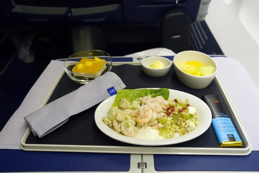 The pre-landing shrimp salad.