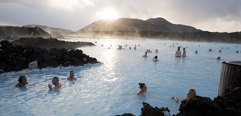 Iceland's famous blue lagoon.