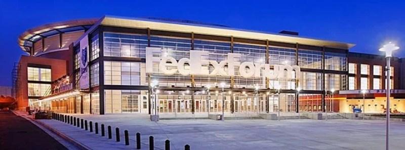 FedEx Forum in Memphis, Tennesee.