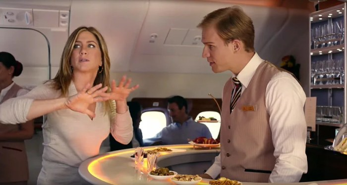 The new Emirates commercial featuring Jennifer Aniston is hysterical.