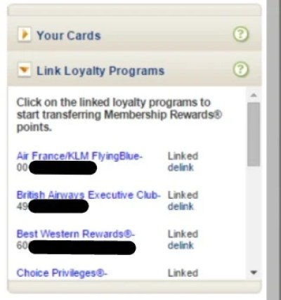 Finally, I see my Executive Club account is linked!