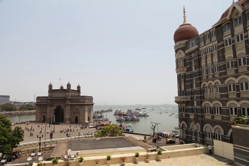 The Gateway to India forms the perfect view from the Taj Mahal Palace Mumbai.