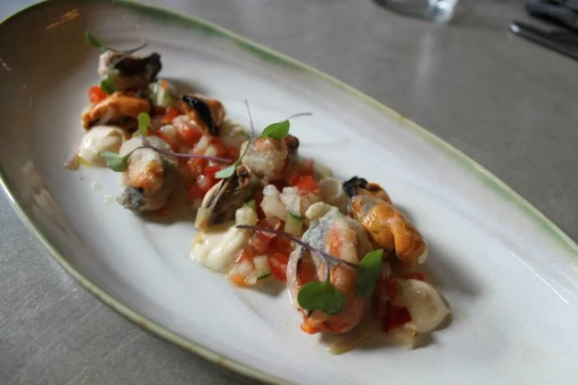 A mussel salad with lemon mayonnaise from LSD restaurant. Photo courtesy of the restaurant's Facebook page.