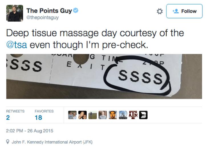 The SSSS is finally gone, no more TSA massages