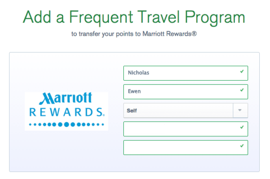 UR add Marriott account