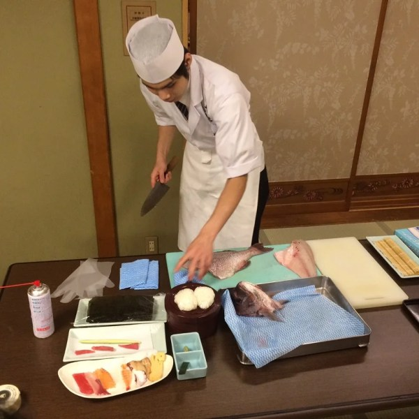 A sushi making demonstration and class in Tokyo that I was able to book using the IHG Rewards Club Concierge.