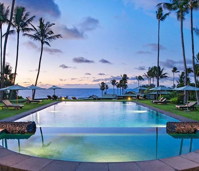 The pool at Travaasa Hana in Maui.