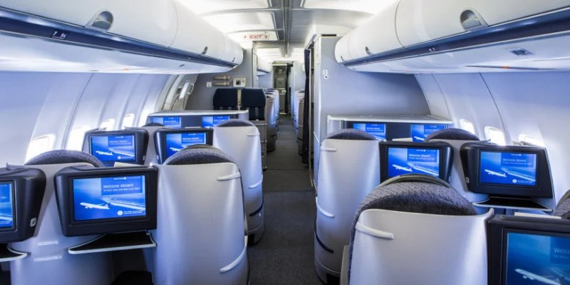 You might want to use KrisFlyer miles instead of MileagePlus to fly United's own domestic business class.