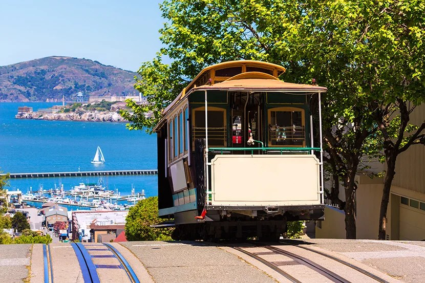 One of San Francisco's famous cable cars