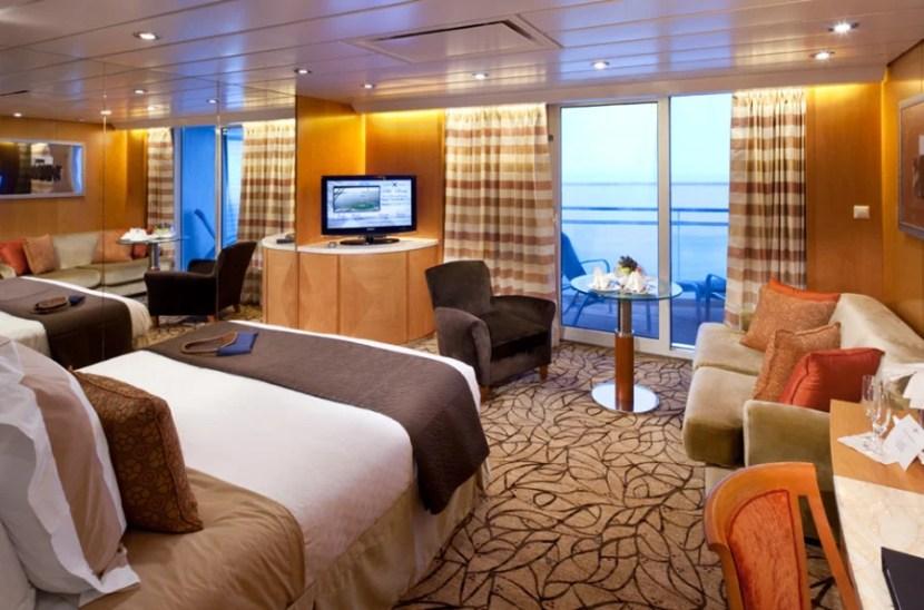A Sky Suite aboard Celebrity Cruise Lines.