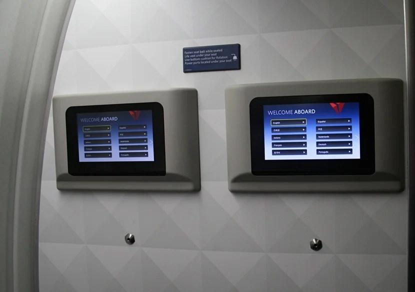 Bulkhead entertainment screens.