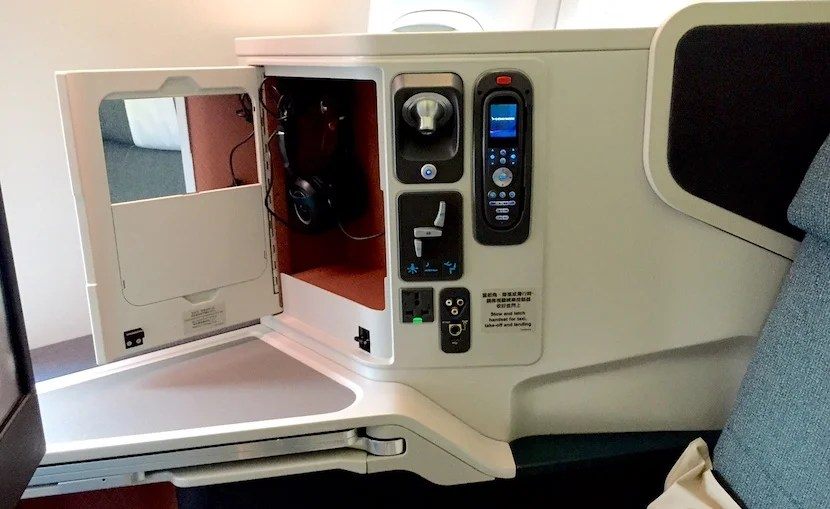 The seat and IFE controls.