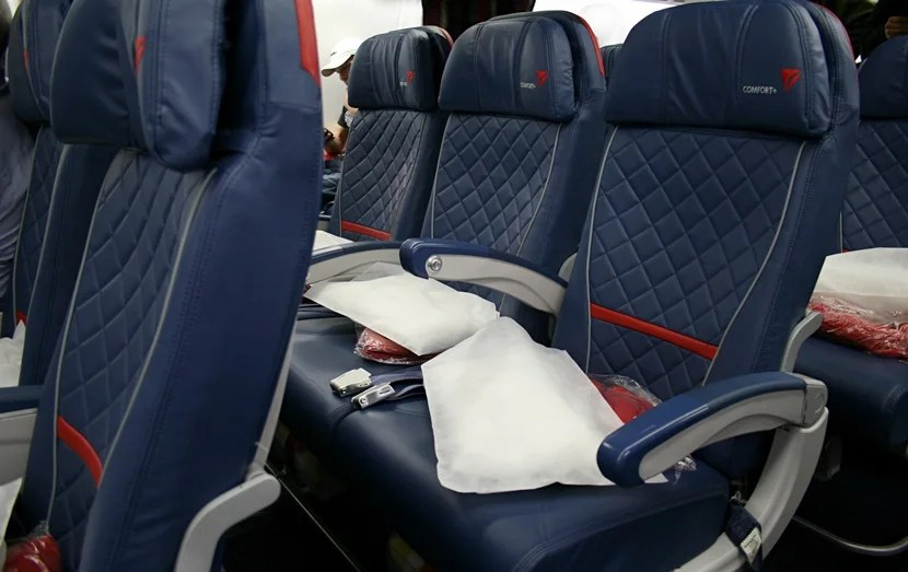 It does seem like there is a bit more legroom in the Delta Comfort+ seats.