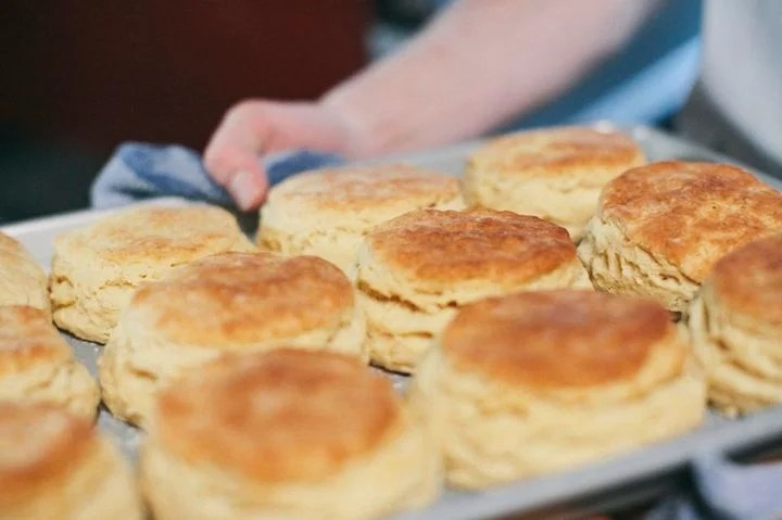 Portland can't get enough of Pine State Biscuits. Order 'em with gravy or with a breakfast sandwich. Photo courtesy of Pine State Biscuits.