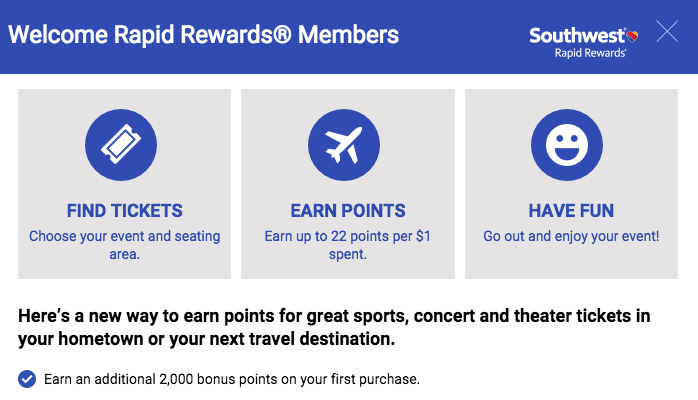 Earn 2,000 points with your first purchase.