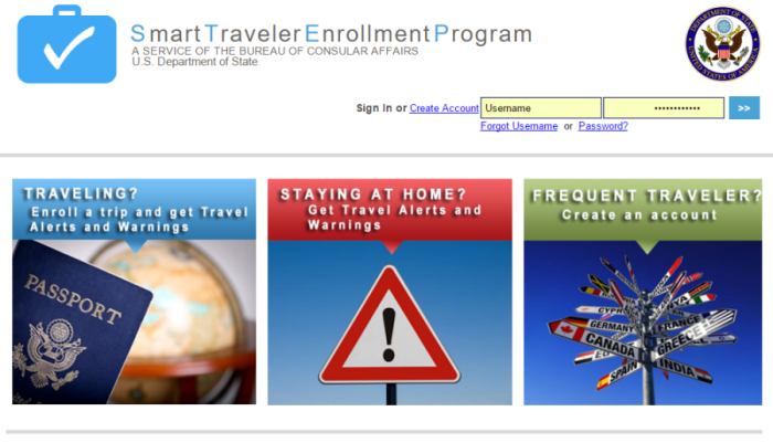 The Smart Traveler Enrollment Program should be your first STEP.