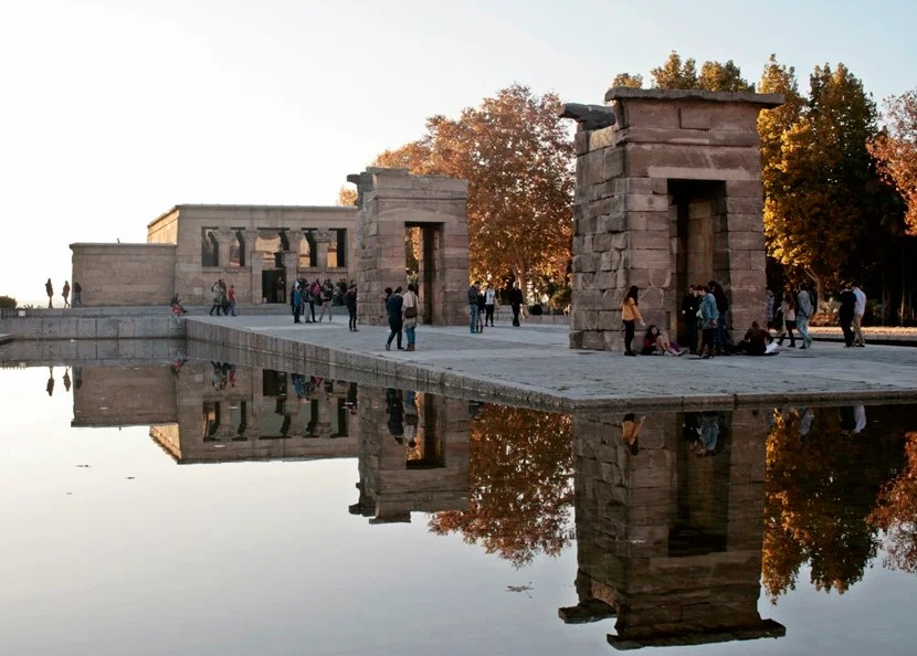 The Templo de Debod was moved from Egypt to Madrid in 1968.