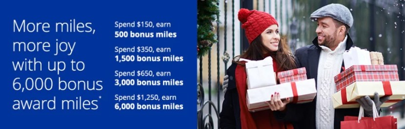You can earn up to 6,000 bonus miles for shopping through United's portal this month.