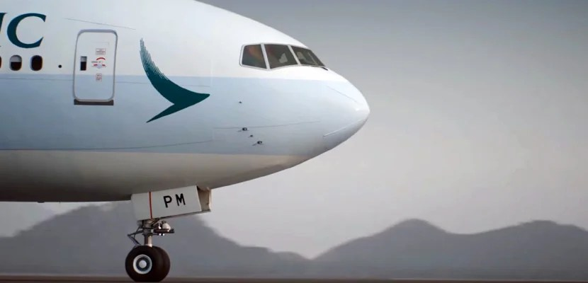 Fly Cathay Pacific's 777 to Asia.