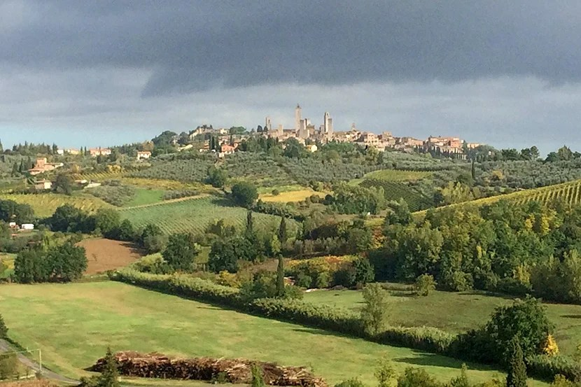 Exploring the Italian countryside: a perfect ending to a great honeymoon.