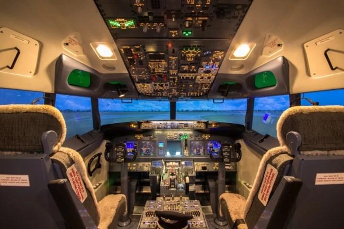 Inside the simulator. Photo courtesy of Shutterstock.