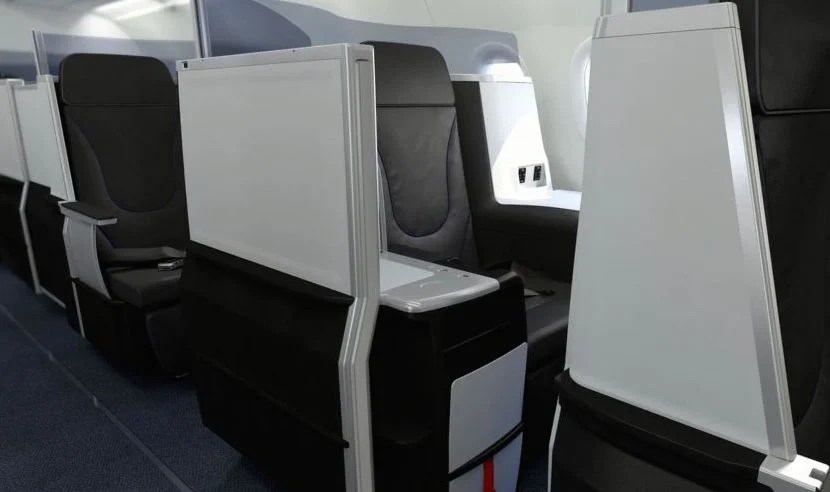 The JetBlue A321 Mint offers four suites, which features closable doors.