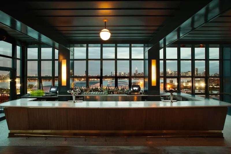 Check out Brooklyn's view over Manhattan at the Wythe's Ides Bar
