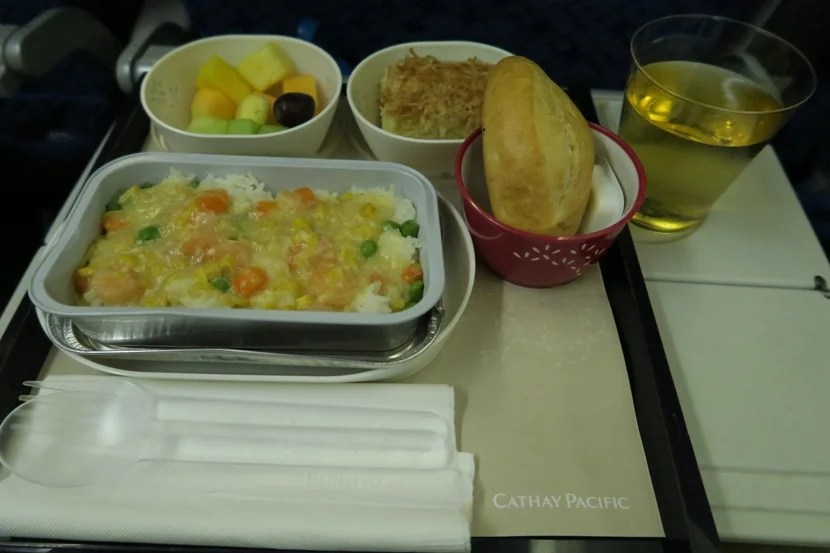 Cathay Pacific 777-300ER Economy JT's 2nd meal