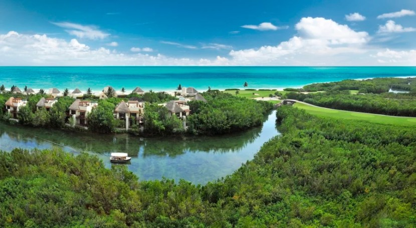 Mexico's lush Mayakoba development outside Cancun will have a new Andaz later this year. Photo is of Fairmont Mayakoba courtesy of Mayakoba.