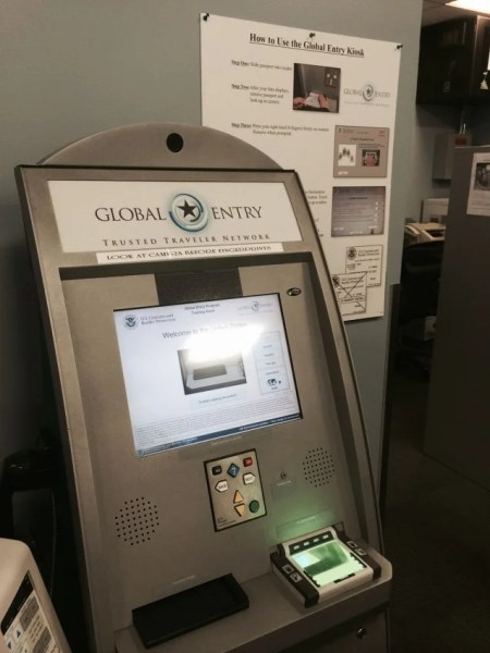 Global Entry kiosks are easy to use.