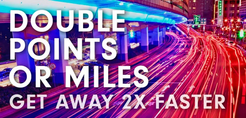 You can earn double miles or points with a Hilton stay.