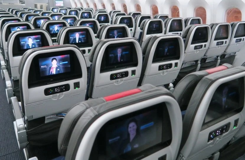 The IFE system was great and the seats, though narrow, had a nice recline.