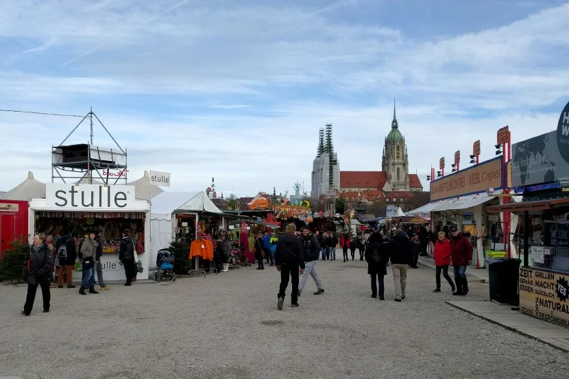 Munich's Tollwood market by day.