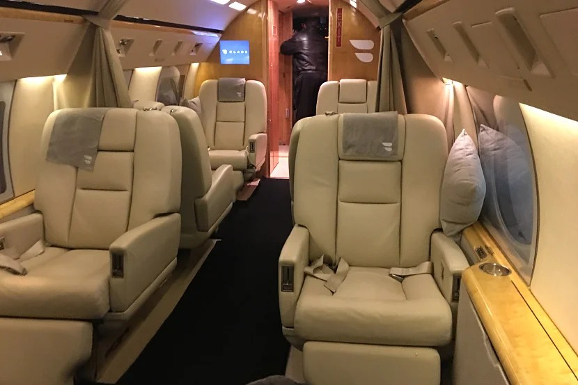 The cabin of the jet was comfortable and chic.