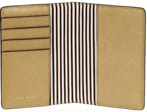This passport cover is stylish and functional, with space for several credit cards.