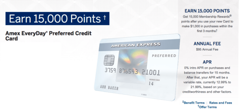 The Amex EveryDay Preferred card comes with a host of benefits plus a larger initial sign-up bonus!