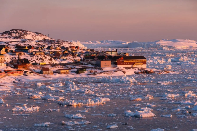 Come to Greenland in summer to experience the midnight sun in Ilulissat. Photo courtesy of Shutterstock.