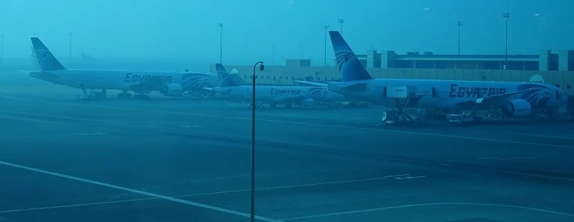 Unsurprisingly, there are a lot of EgyptAir aircraft in Cairo.