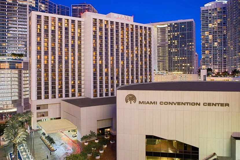 The Hyatt Regency Miami is located right next to the Miami Convention Center. Image courtesy of the hotel.
