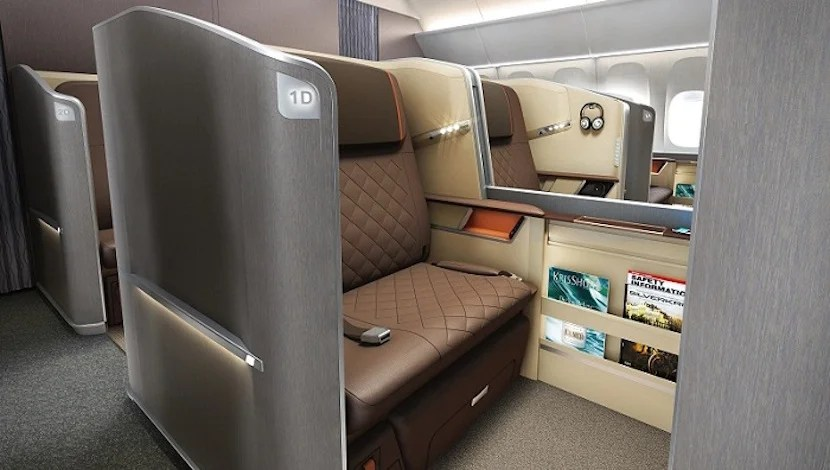 Singapore's seats earn a place on this list since they're so roomy. Photo courtesy of Singapore Airlines.