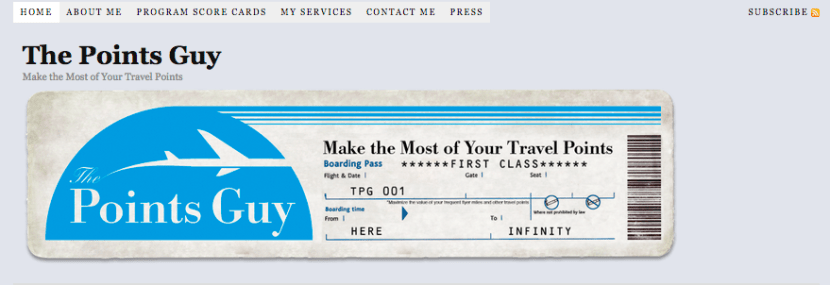 The original TPG home-page header in 2010 — look how far we've come (but we still love that boarding pass!)