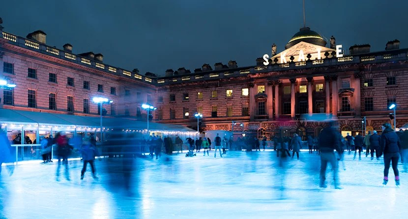 Ice skating at London's Somerset House. Image courtesy of Kofi Lee-Berman.