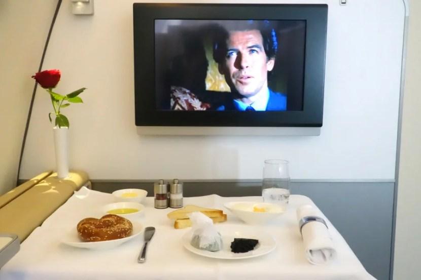 Caviar in Lufthansa first.