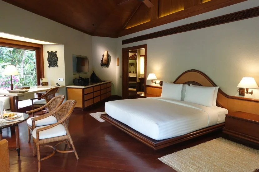 The King bed was very comfortable, and the bedroom area was very spacious.