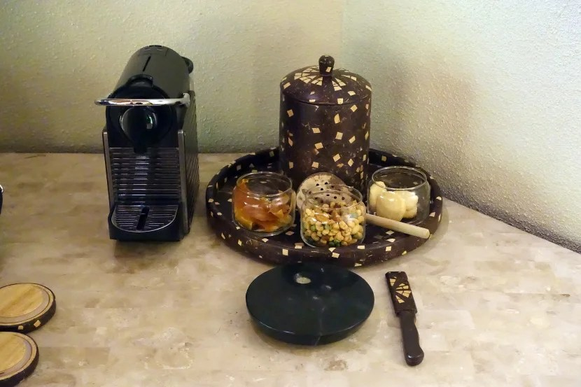 Complimentary in-room snacks.