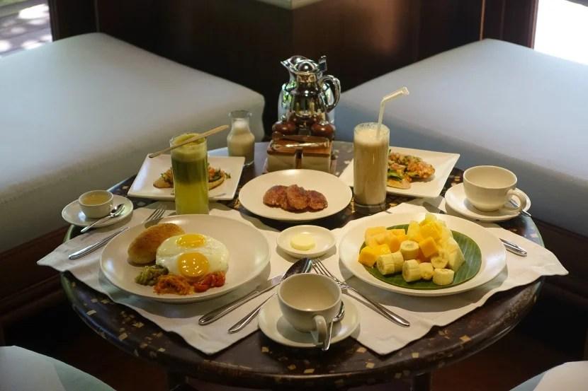 Room-service breakfast.