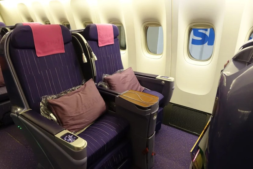 Thai's not so great regional business class.