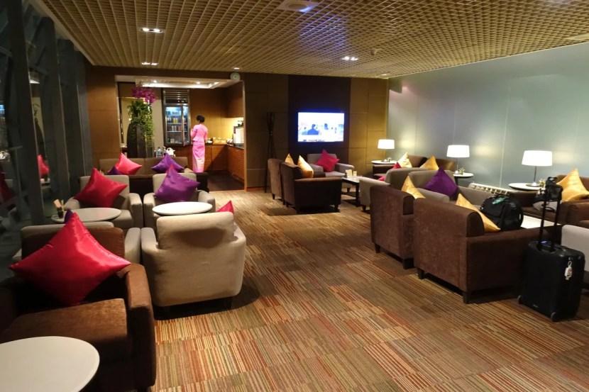 Thai's smaller first-class lounge.