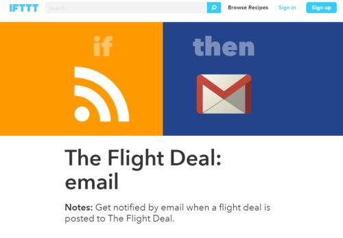 IFTTT The Flight Deal